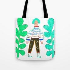 Women and cactus. Tote Bag