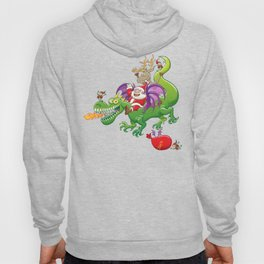 Santa changed his reindeer for a dragon Hoody
