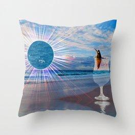 BEACH FANTA-SEA Throw Pillow