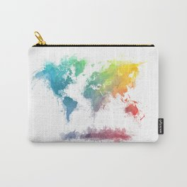 World Map splash 2 Carry-All Pouch