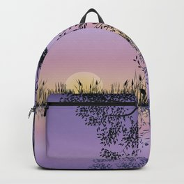 Trees by the lake Backpack
