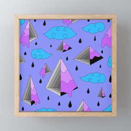 Purple Py Framed Mini Art Print
