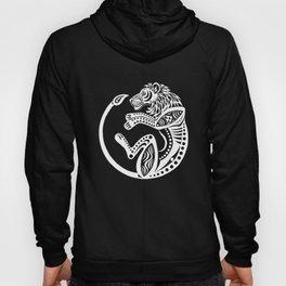 Afro Lion - white Hoody