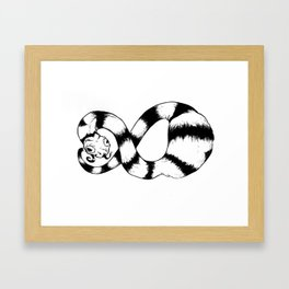 Snake Snack Infinite Framed Art Print