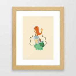 Pocket Monsters Framed Art Print