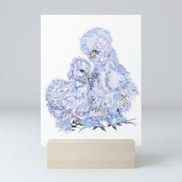 Silkie Chickens Mini Art Print