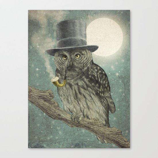 Night Smoke (Color Option) Canvas Print