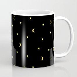 Gold Moons and Stars Coffee Mug