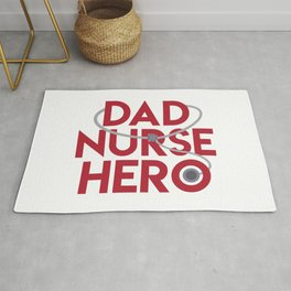 Dad Nurse Hero With Stethoscope 1 Rug