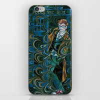 dr who iPhone & iPod Skins featuring Dr. Who by Alex Bayliss
