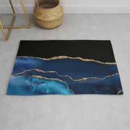Beautiful Blue Pattern Design Rug