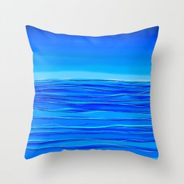 Always sea in the background ... Throw Pillow