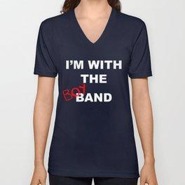 I'm With the Boy Band Unisex V-Neck