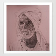 Egyptian Old Man Art Print