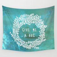 hug Wall Tapestries featuring Hug by lescapricesdefilles