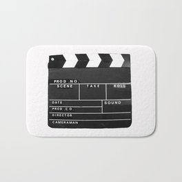 Film Movie Video production Clapper board Bath Mat