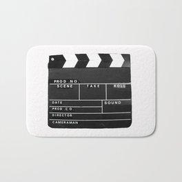 Film Movie Video production Clapper board Bath Mat