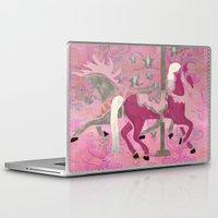 nursery Laptop & iPad Skins featuring Carousel Dreams Nursery KIDS by BohemianBound