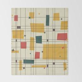 Mid-Century Modern (gold) Throw Blanket
