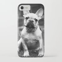 french bulldog iPhone & iPod Cases featuring French Bulldog by Kathleen Follert