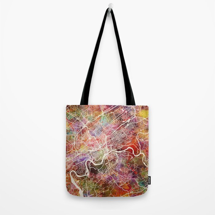 Knoxville map Tote Bag