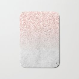 She Sparkles Rose Gold Pink Concrete Luxe Bath Mat