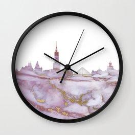 Warsaw Skyline Poland Wall Clock