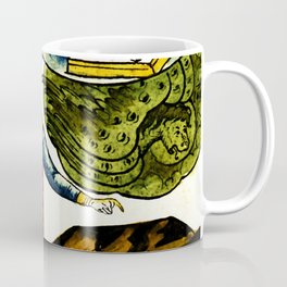 Lifting the First Seal of Apocalypse and the White Rider of War Coffee Mug