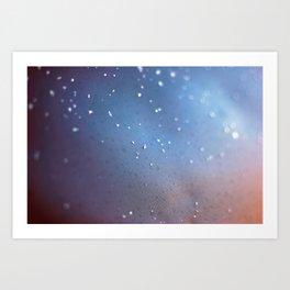 Frozen Blue Art Print