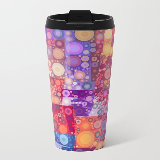 Harlequin Bubbles Metal Travel Mug