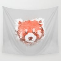 red panda Wall Tapestries featuring Red Panda by Zach Terrell