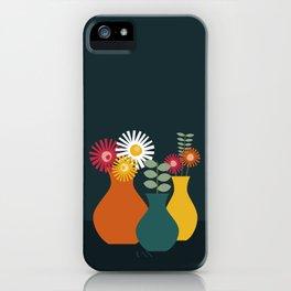 Flower Vases on Dark Background iPhone Case