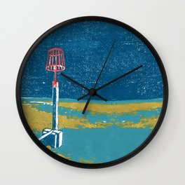 Seaview Fire Beacon in Turquoise Wall Clock