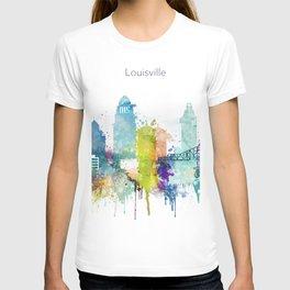 Colorful Louisville skyline design T-shirt