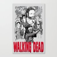 walking dead Canvas Prints featuring Walking Dead by Matt Fontaine Creative