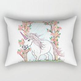 Unicorn and roses Rectangular Pillow