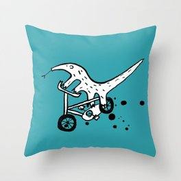 Anteater cyclists Throw Pillow