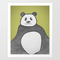 Panda Mountain Art Print