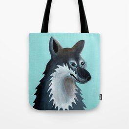 Mrs. Gray Wolf Tote Bag