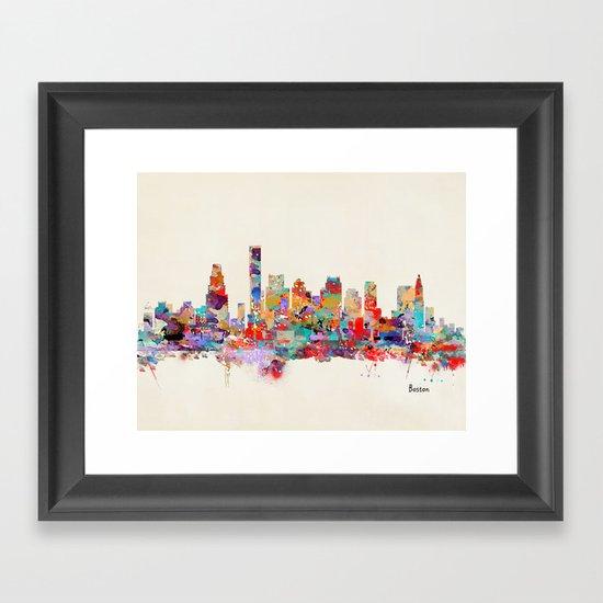Boston city watercolor by bribuckley