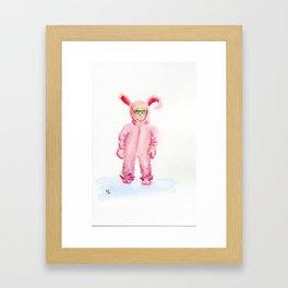 pink nightmare Framed Art Print