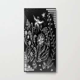 Flower Tangle Metal Print