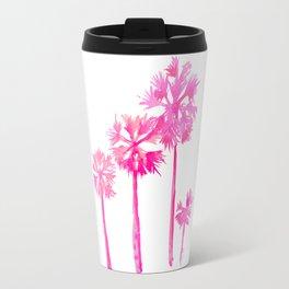 Tropical Pink Palms Travel Mug
