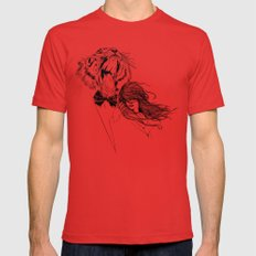 The Tiger's Roar Mens Fitted Tee Red SMALL