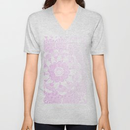 Bohemian Chic and Pretty in Pink Mandala Unisex V-Neck