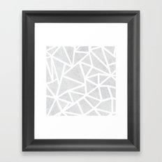 Ab Marble Zoom Framed Art Print