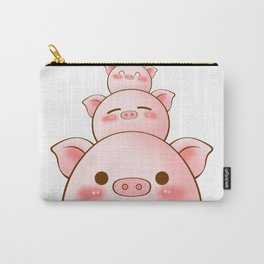 Pig Family Cartoon Carry-All Pouch