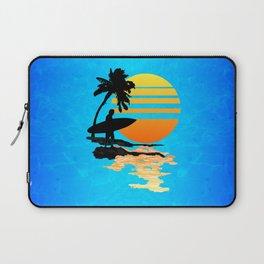 Surfing Sunrise Laptop Sleeve