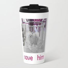 Dog in Glass Prison Travel Mug