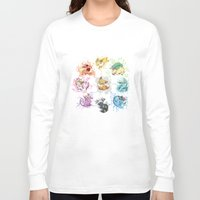 eevee Long Sleeve T-shirts featuring Eeveelutions by Leonie X. Li